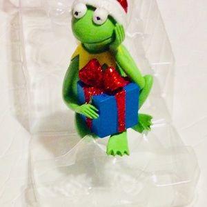 Kermit Frog Holding Present Hallmark Ornament